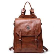 Women Backpacks Soft Leather Backpack High Quality Brown Genuine Leather Men Backpacks For 15.6 Inches Laptop Bags Male Bagpack high quality england vintage style genuine leather men backpacks for college school backpacks for 14 inch laptop bags 9024