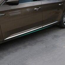 Lsrtw2017 Stainless Steel Aluminum Alloy Car Door Edge Strip Trims for Skoda Octavia Superb 2016 2017 2018 2019 2020 lsrtw2017 stainless steel car door sill strip threshold trims for skoda octavia 2015 2016 2017 2018 2019 2020