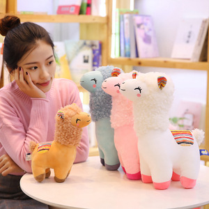 25cm-45cm Lovely Alpaca Llama Plush Toy Animal Stuffed Animal Dolls Soft Plush Sheep For Kids Girls Birthday Xmas Gifts 4 Colors(China)