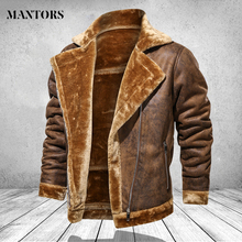 Men Clothing Winter Jacket 2020 Fashion Turn Down Collar Male Fur Fleece Thick Coats Mens Leather Outwear Streetwear Windbreaker