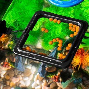 Fish Feeding Aquarium Fish Tank Ring Feeder Station Food Fish Supply Feeding Buoyancy Ring Floating Water Aquarium Plant Ci S9W5