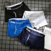 4Pcs Male Panties Cotton Men'S Underwear Boxers Breathable Man Boxer Solid Underpants Comfortable Shorts Men Underwear 365