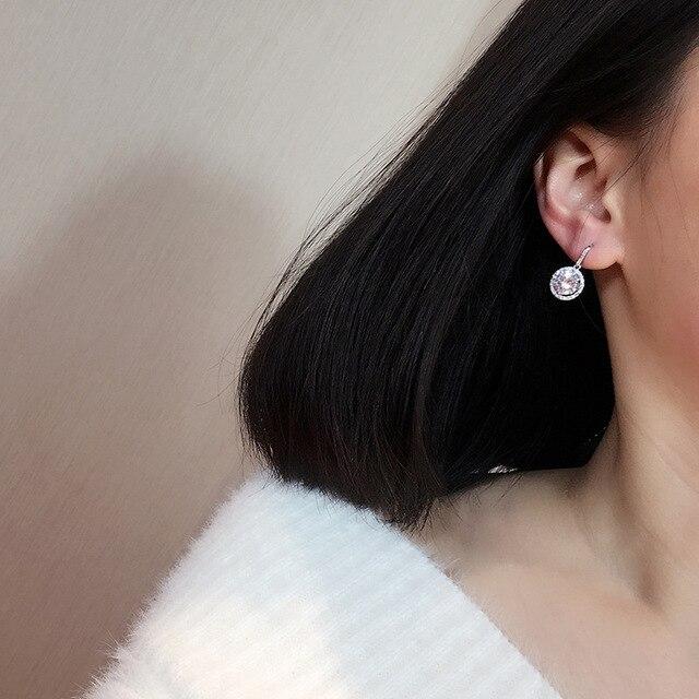 Купить новое поступление корейские серьги подвески серебряного цвета картинки