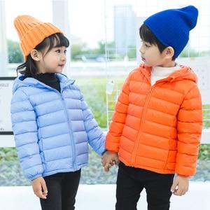 Image 4 - 1 4 7 12 14 chaqueta de invierno para niños, 90%, chaqueta ligera de plumas de pato para niños, chaquetas de otoño para niñas, abrigos parka para niños