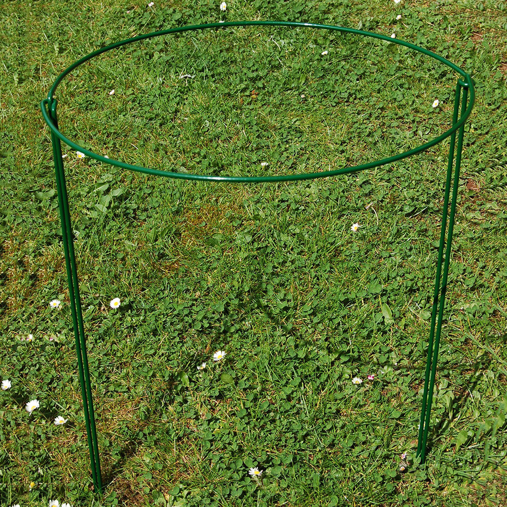 2pcs Half Round Plant Support Ring Garden Semi-Circular Support Ring Garden IronBorder Wire Hoop Plant Support Frame