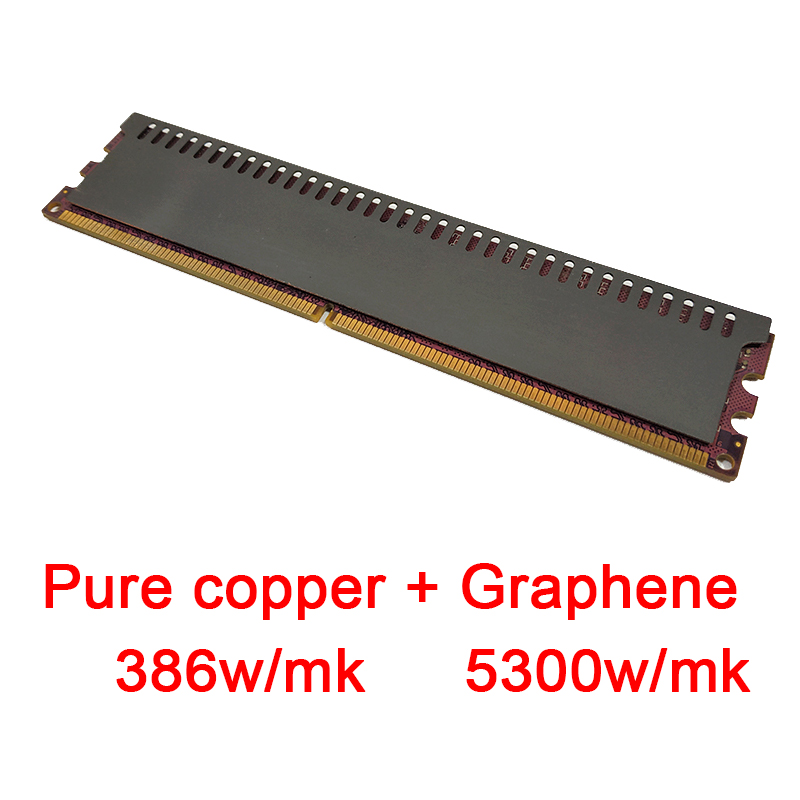 Pure Copper Graphene Thermal Conductive Adhesive Desktop Memory Chip Heatsink Cooling Vest Radiator RAM Cooler Heat Sink 0.5mm