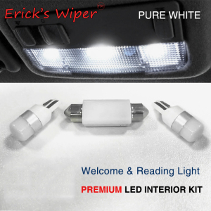 Erick's Wiper 3pcs/kit For VW Caddy Map Reading Light PREMIUM Upgrade 3030 SMD LED Lamp Bulbs Car Accessories