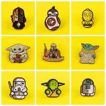 Cartoon Star Wars Badges on Backpack Yoda Baby Brooches Badges for Clothes Enamel Pins for Backpacks Clothes Lapel Pin Badge DIY planets badges for backpack universe brooches space man badge enamel pins for backpacks badges for clothes clothes lapel pin diy