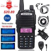 High 8W Baofeng UV 82 Walkie Talkie uv 82hp Hunting Portable CB Ham Radio 10km Dual Band VHF UHF Transceiver UV82 Two Way Radio
