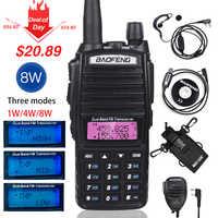 High 8W Baofeng UV-82 Walkie Talkie uv-82hp Hunting Portable CB Ham Radio 10km Dual Band VHF UHF Transceiver UV82 Two Way Radio