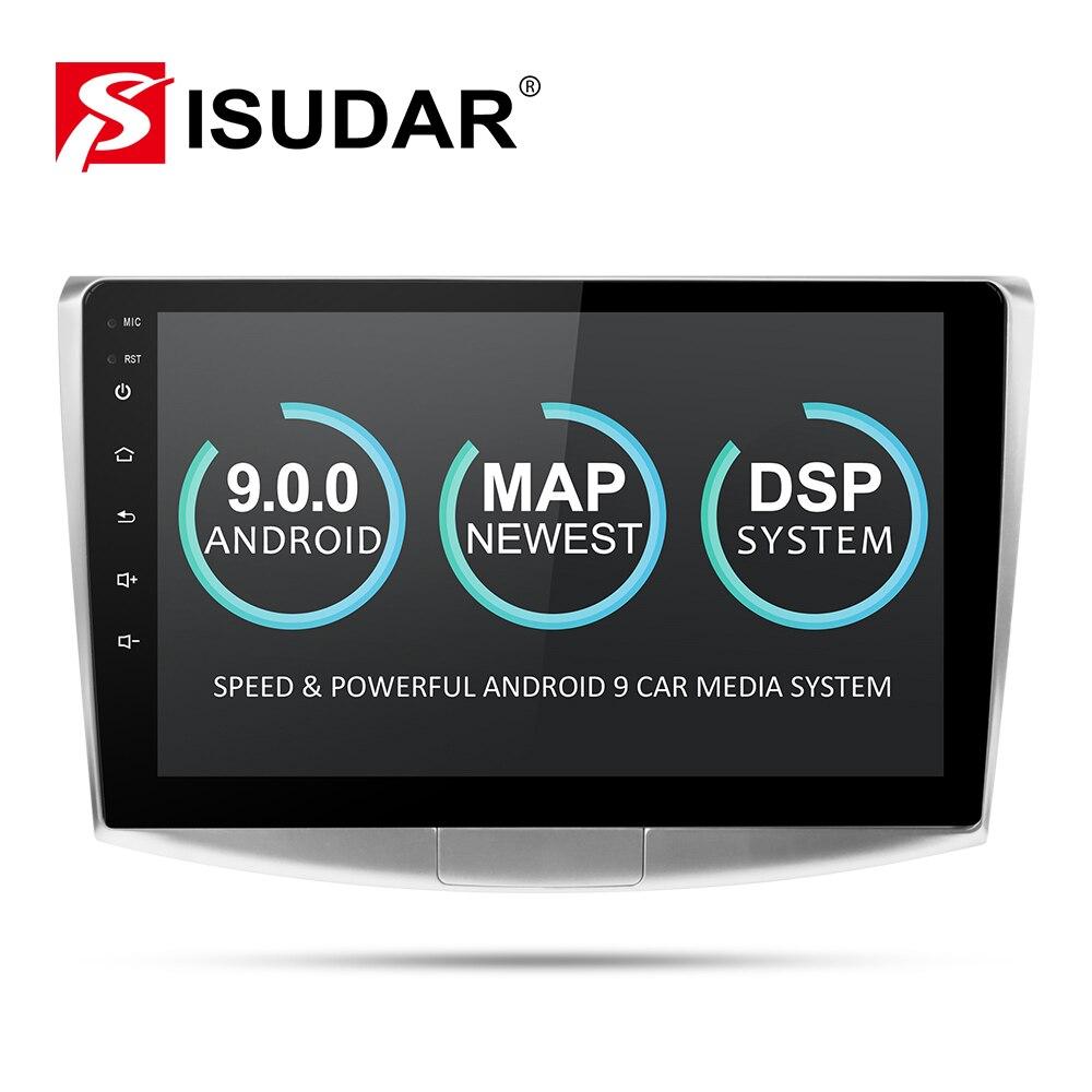 Isudar 9 2 Din Rádio Auto Android Para VW/Volkswagen/Magotan/CC/Passat B6 B7 CANBUS multimedia Player De Vídeo do carro GPS DVR USB FM/AM