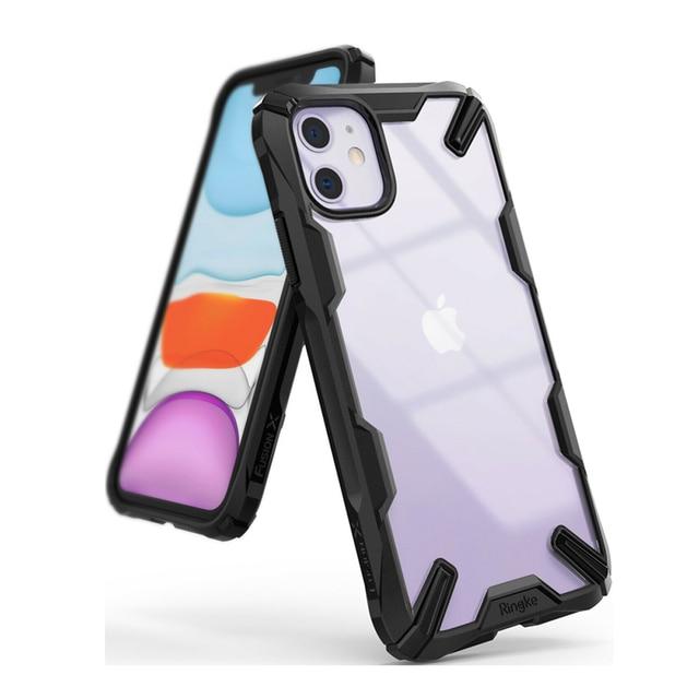 Ringke Fusion X für iPhone 11 Fall Heavy Duty Schock Absorption Transparent Harte PC Zurück Weiche TPU Rahmen Abdeckung