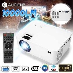 10000 lm projektor led Android 6 podłącz telefon full-hd Mini Proyector 1080P 800*600 rozdzielczość kino domowe film