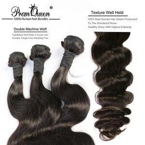 Пром Королева Remy Волосы бразильские человеческие волосы пряди волнистые 1/3/4 двойная машина утка натуральные кудрявые пучки волос пряди Бес...