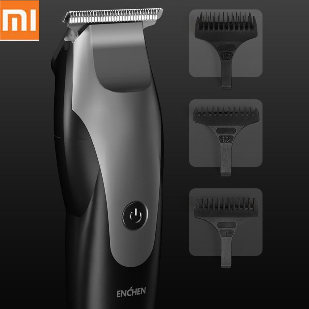 Xiaomi ENCHEN USB Charging Men Electric Hair Clipper Hair Trimmer Low Noise Hair Cutting Machine Beard Trimer With 3 Hair Comb