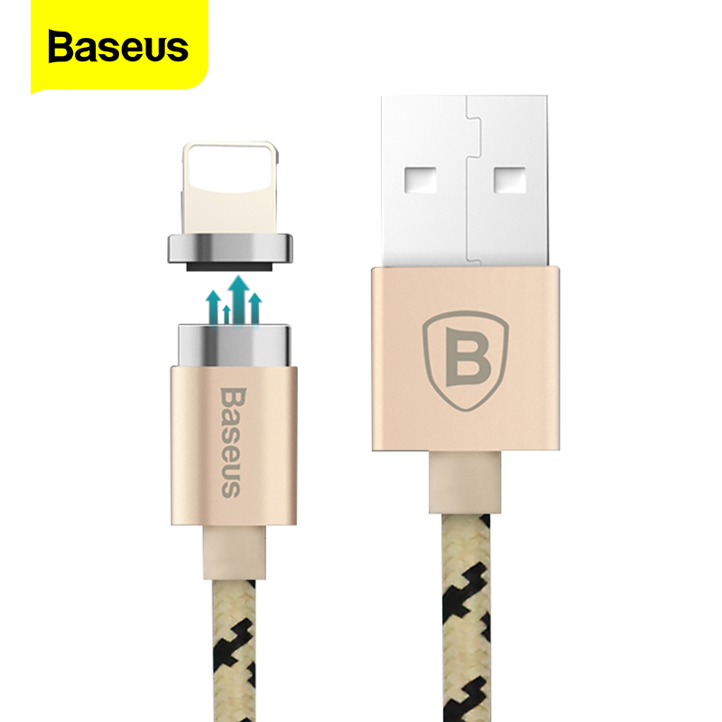 Baseus Magnetic USB Cable For iPhone X 10 8 7 6 6s 5 5s se Magnetic Charging Charger Data Cable Magnet Charge Charger Wire Cord|Mobile Phone Cables| |  - title=