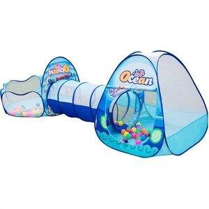 Image 3 - 3 ใน 1 เด็กในร่มกลางแจ้งCrawlingเกมพับบ้านPolka Dotอุโมงค์ยิงMarine Ball Poolของเล่นเด็กเต็นท์ของขวัญ