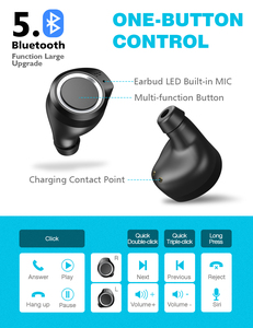 Image 3 - Fones de ouvido de bluetooth, seacase 5.0 verdadeiro fones de ouvido sem fio graves profundos estéreo som fone de ouvido de bluetooth mini in ear chamada binaural