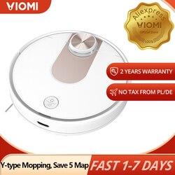 Viomi se robô aspirador de pó inteligente planejado y-tipo elétrico mop, mijia app, salvar 5 mapas 7 programação, tapete cabelo pet coletor de poeira