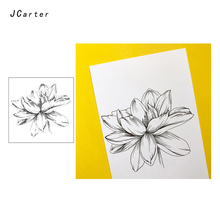 JC Clear Stamps Rubber Sketch Flower Transparent Silicone Scrapbooking for Paper Card Making Craft Decor 2019 New Stamp