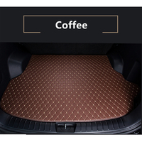 New Coffee Car Rear Trunk Mat For Skoda Rapid 2018 2019 Cargo Tray Boot Liner Carpet Custom Fit