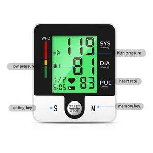 Image 5 - OLIECO USB akumulator automatyczny cyfrowy nadgarstek Monitor ciśnienia krwi rosyjski j. Angielski tonometr elektryczny Sphygmomanom PR