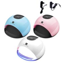 80w High Power Nail Machine Led Light Fast Drying Nail Lamp Nail Baking Lamp Dryer Uv Paint Fast Curing Smart Sensor portable hand held car paint lamp infrared paint curing lamp