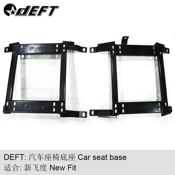 DEFT One Pair Car Seat Mount Bracket For Honda New Fit Auto Replace Parts Iron Stainless Strength Car Racing Seat Brackets Base