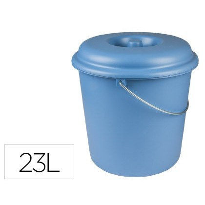 TRASH CAN SEVANT WITH CAP 23 LITERS FOR BAGS 55X60CM BLUE