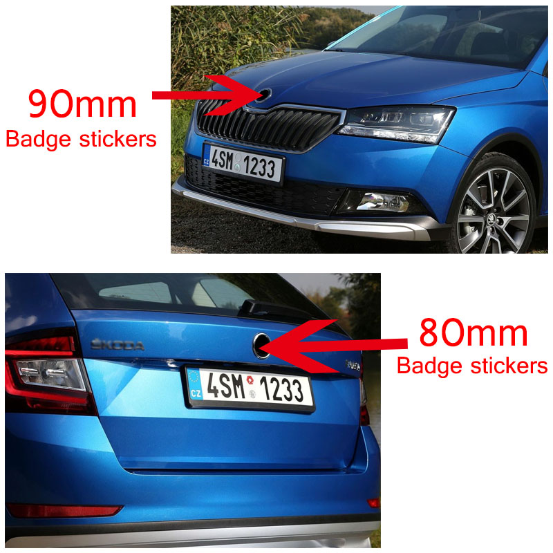 Значок-наклейка для заднего багажника, 90 мм, 80 мм, 2 шт.