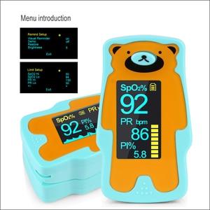Image 4 - RZ Oximeter ילד נייד אצבע Oximeter אצבע Oximeter ביתי בריאות צגי קצב לב PR SPO2 תינוק Oximeter