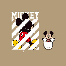 Heißer Verkauf Mickey Maus Patches für Kleidung DIY Kinder Familie t-shirt kleidung patches Anime Thermische transfer aufkleber(China)