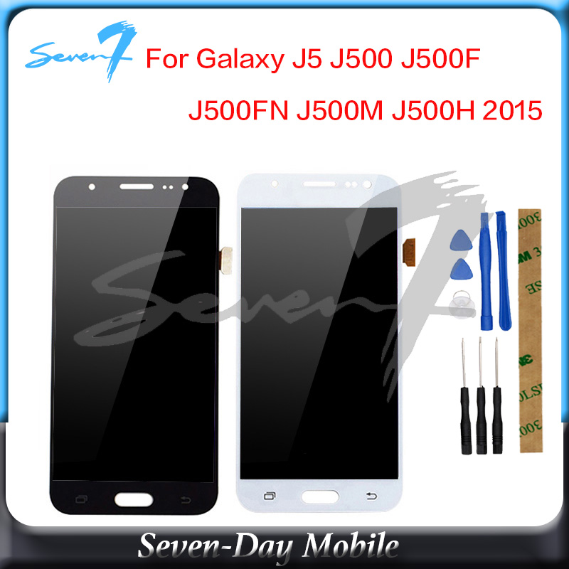 TFT Für <font><b>Samsung</b></font> GALAXY J5 J500 J500F J500FN J500M <font><b>J500H</b></font> 2015 <font><b>LCD</b></font> Display Mit Touch Screen Digitizer Montage Einstellen Helligkeit image