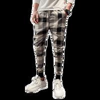 Classical Men Pants Plaid Striped Trousers Male Vintage Fashion Mens Joggers Autumn Casual Slim Fit Trendy Streetwear Pants Man