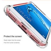 Clear silicon phone case for huawe