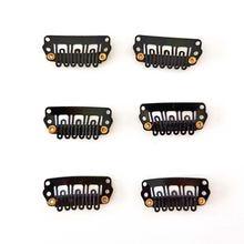 100 шт/лот 28 мм 6 зубцов u образные металлические зажимы с
