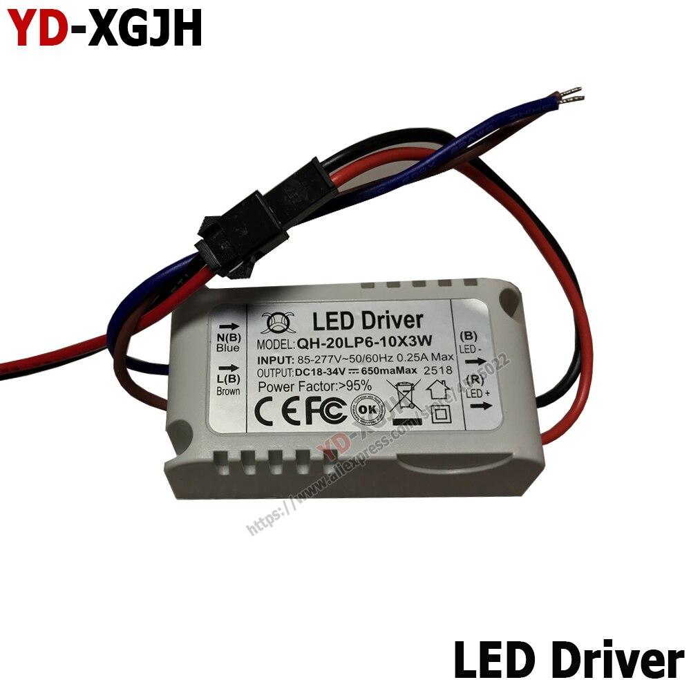 50-60Hz LED Driver 300mA 600mA 900mA LED Power Supply Unit AC90-265V Lighting Transformers For 1W3W5W10W20W30W36W50WLEDs