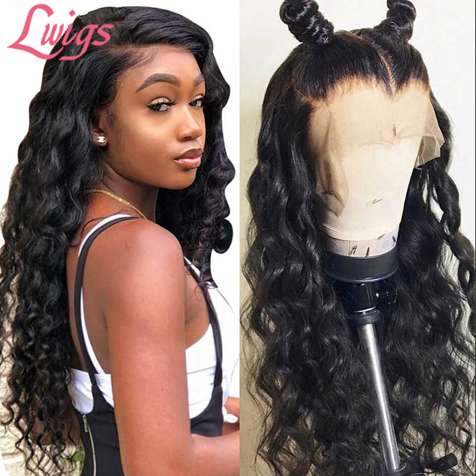 Lwigs Lace-Wig Human-Hair Glueless Full-Lace Deep-Wave Transparent Baby Brazilian HD