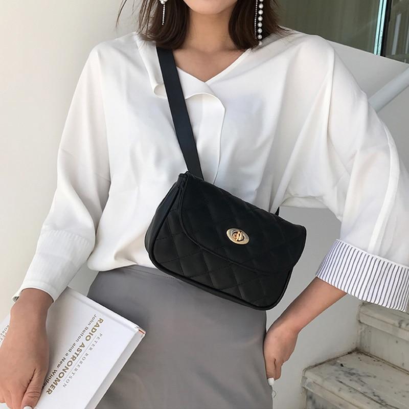 Geometric Patterns Women Waist Bag Female Luxury Designer Belt Bag High Quality Leather Fanny Pack Shoulder Crossbody Chest Bags