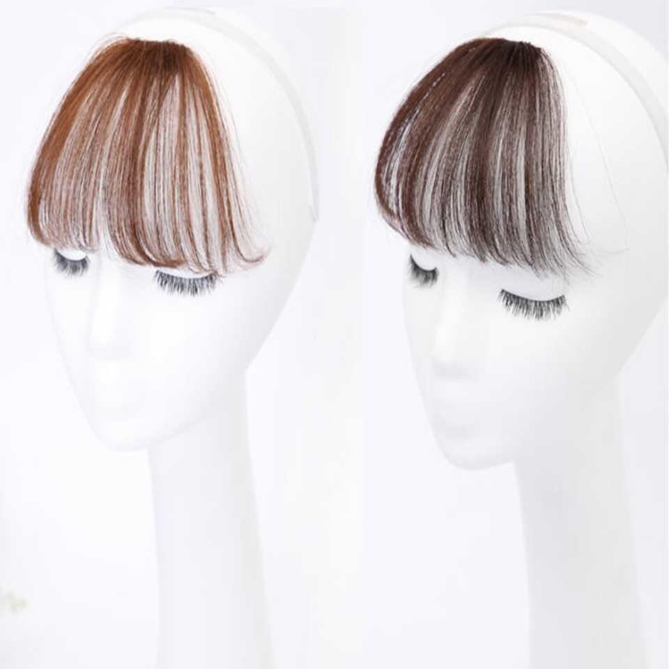 Lupu corto recto flequillo peluca sintética recta Natural peluca femenina resistente al calor pieza de pelo Clip de pelo frente
