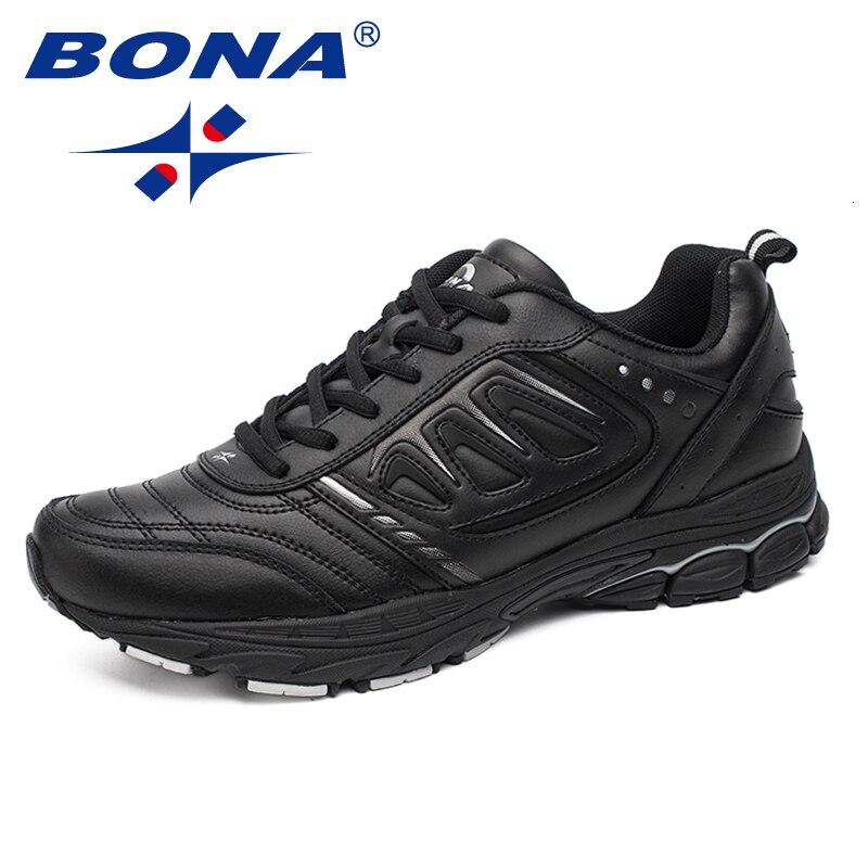BONA New Men Running Shoes Ourdoor Jogging Trekking Sneakers Zapatos De Hombre Athletic Shoes Comfortable Light Trainers