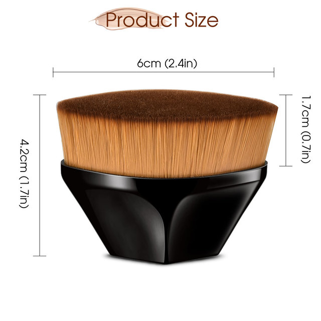 Pincéis de maquiagem fundação escova bb creme solto em pó plana kit conjunto feminino compõem a ferramenta cosméticos beleza 4