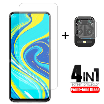 4-in-1 Camera Tempered Glass For Xiaomi Redmi Note 9s Note 9 Pro Screen Protector Protective Glass For Redmi Note 9S 9 S Glass protective tempered glass screen guard membrane for samsung note 4 transparent