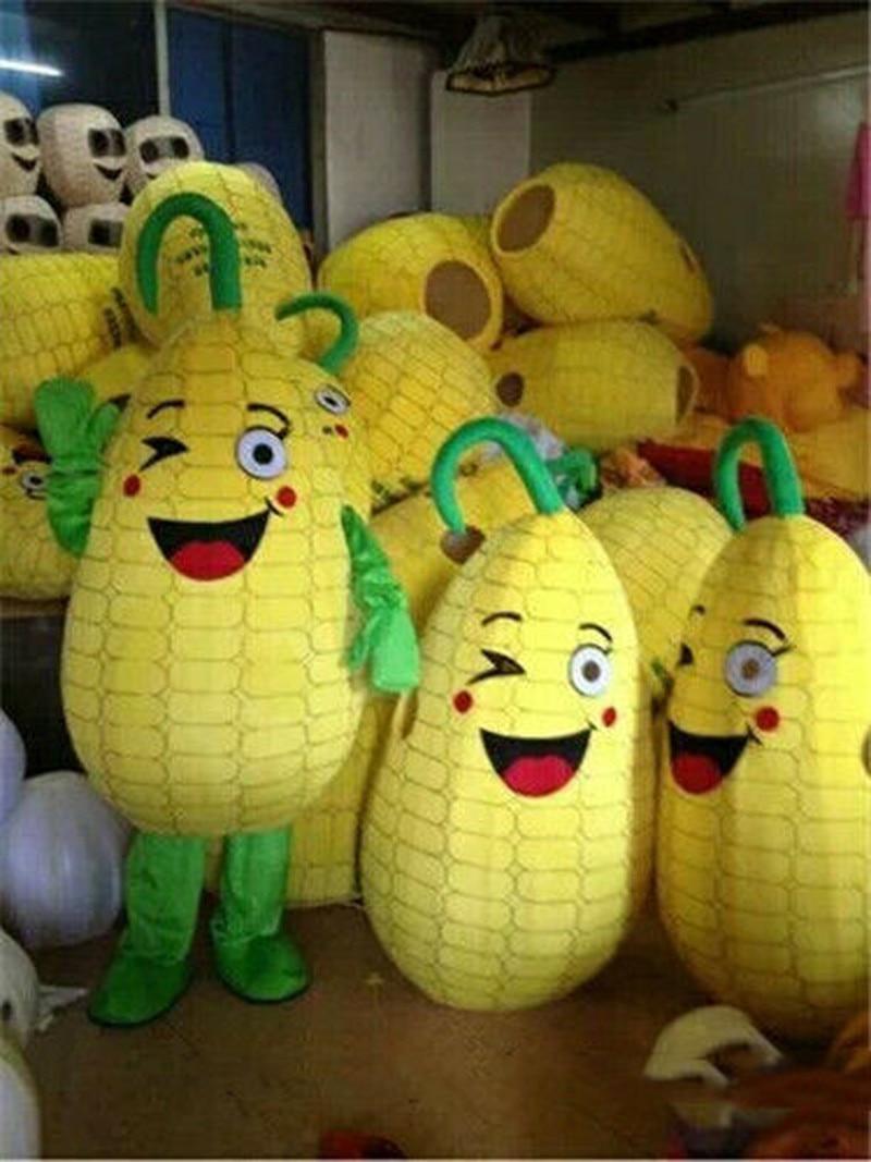 Maïs maïs dessin animé fantaisie mascotte Costume costumes fête jeu tenues vêtements publicité Promotion carnaval Halloween noël adultes