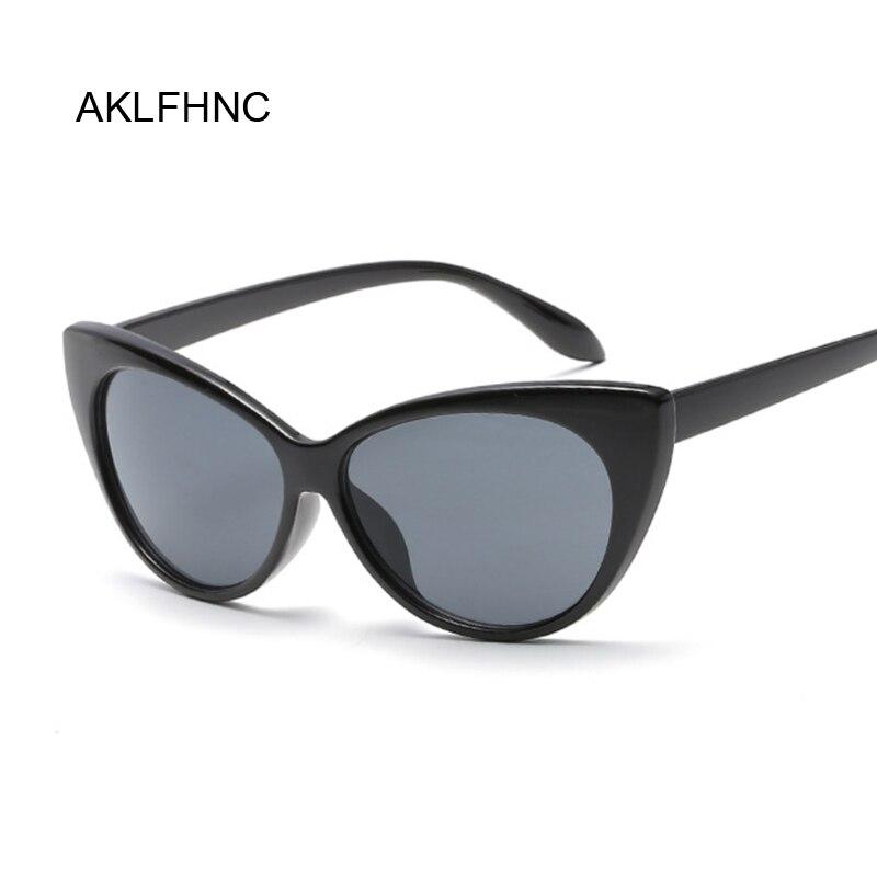 Sexy Cat Eye Sunglasses Women Brand Designer Mirror Black Triangle Sun Glasses Female Shades For Ladies UV400