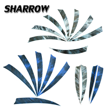 50/100pcs Archery 5inch Colorful Arrow Feathers Right Wings Turkey Feather Shield Shape DIY Tools Hunting Shooting Accessories
