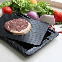 Schnelle Abtauen Tablett Tauwetter Tiefkühlkost Fleisch Obst Schnell Schnelle Fleisch Abtauung Bord Mit Box Küche Werkzeuge-in Auftauen von Trays aus Heim und Garten bei
