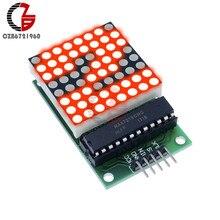 MAX7219 LED Dot Matrix Modulo di Controllo MCU LED Rosso Modulo Display Modulo di Interfaccia 5V 8x8 di Uscita di Ingresso catodo comune per Arduino