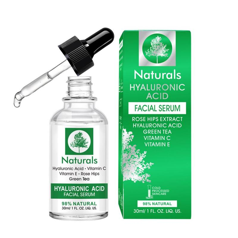 30ml Natural Vitamin C Hyaluronic Acid Serum Liquid Removal Serum Anti-wrinkle Fade Acid Freckle Face Acne Dark Spot Scars M1N2