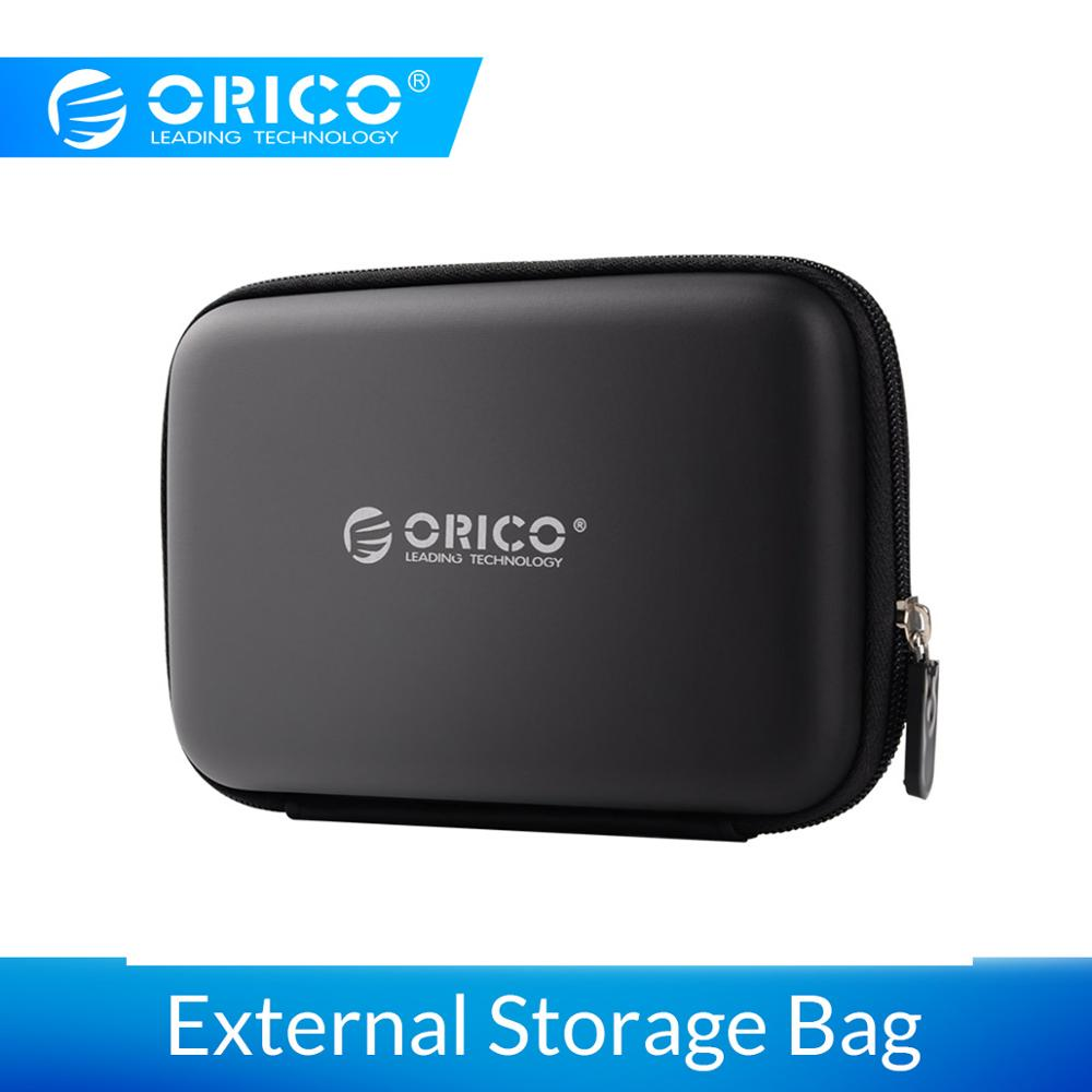 ORICO Earphone Bag 2.5 Inch Protection Case For External Portable HDD Box Case USB Charging Cables Power Banks Earphones More